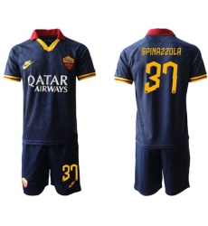 Roma #37 Spinazzola Third Soccer Club Jersey