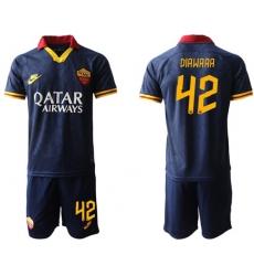 Roma #42 Diawara Third Soccer Club Jersey