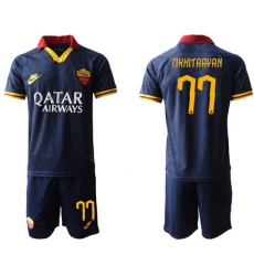 Roma #77 Mkhitaryan Third Soccer Club Jersey