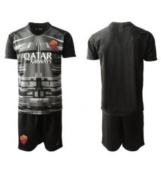 Roma Blank Black Goalkeeper Soccer Club Jersey
