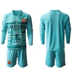Roma Blank Blue Goalkeeper Long Sleeves Soccer Club Jersey