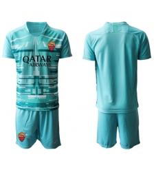 Roma Blank Blue Goalkeeper Soccer Club Jersey