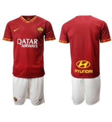 Roma Blank Red Home Soccer Club Jersey