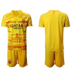 Roma Blank Yellow Goalkeeper Soccer Club Jersey