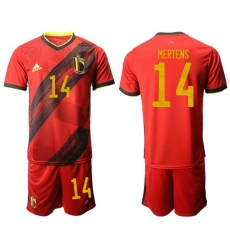 Belgium #14 Mertens Red Home Soccer Country Jersey