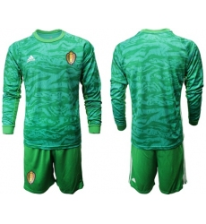 Belgium Blank Green Long Sleeves Goalkeeper Soccer Country Jersey