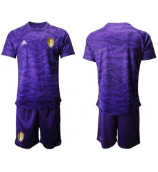 Belgium Blank Purple Goalkeeper Soccer Country Jersey