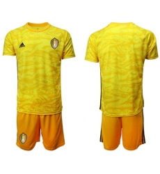 Belgium Blank Yellow Goalkeeper Soccer Country Jersey