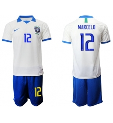 Brazil #15 Paulinho White Soccer Country Jersey