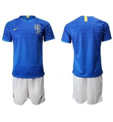Brazil Blank Blue Soccer Country Jersey