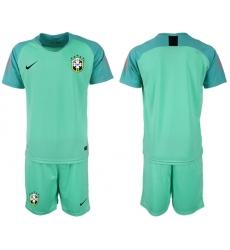 Brazil Blank Green Goalkeeper Soccer Country Jersey