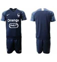 France Blank Dark Blue Soccer Country Jersey