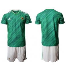 Northern Ireland Blank Green Home Soccer Country Jersey