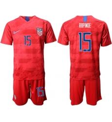 USA #15 Rapinoe Away Soccer Country Jersey