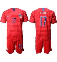 USA #17 Altidore Away Soccer Country Jersey