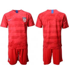 USA Blank Away Soccer Country Jersey