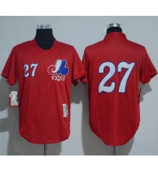 Mitchell And Ness 1989 Montreal Expos #27 Vladimir Guerrero Red Throwback Stitched MLB Jersey