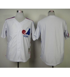 Mitchell And Ness Expos Blank White Throwback Stitched Baseball Jersey