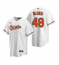 Men's Nike Baltimore Orioles #48 Richard Bleier White Home Stitched Baseball Jersey