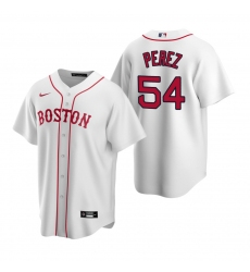 Men's Nike Boston Red Sox #54 Martin Perez White Alternate Stitched Baseball Jersey