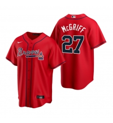 Men's Nike Atlanta Braves #27 Fred McGriff Red Alternate Stitched Baseball Jersey