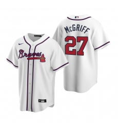 Men's Nike Atlanta Braves #27 Fred McGriff White Home Stitched Baseball Jersey