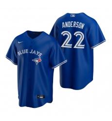 Men's Nike Toronto Blue Jays #22 Chase Anderson Royal Alternate Stitched Baseball Jersey