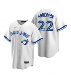 Men's Nike Toronto Blue Jays #22 Chase Anderson White Cooperstown Collection Home Stitched Baseball Jersey