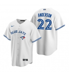 Men's Nike Toronto Blue Jays #22 Chase Anderson White Home Stitched Baseball Jersey
