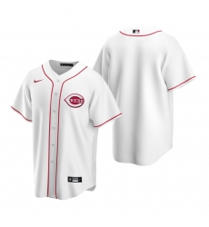 Men's Nike Cincinnati Reds Blank White Home Stitched Baseball Jersey