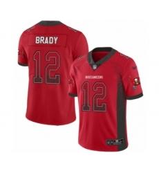 Men's Tampa Bay Buccaneers #12 Tom Brady Limited Red Rush Drift Fashion Football Jersey