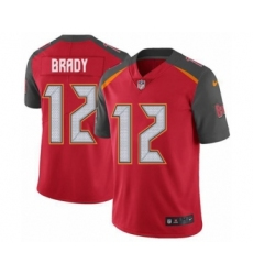 Men's Tampa Bay Buccaneers #12 Tom Brady Red Team Color Vapor Untouchable Limited Player Football Jersey