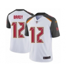 Men's Tampa Bay Buccaneers #12 Tom Brady White Vapor Untouchable Limited Player Football Jersey