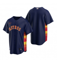 Men's Nike Houston Astros Blank Navy Alternate Stitched Baseball Jersey