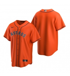 Men's Nike Houston Astros Blank Orange Alternate Stitched Baseball Jersey