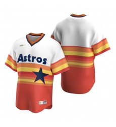 Men's Nike Houston Astros Blank White Orange Cooperstown Collection Home Stitched Baseball Jersey
