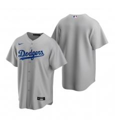 Men's Nike Los Angeles Dodgers Blank Gray Alternate Stitched Baseball Jersey