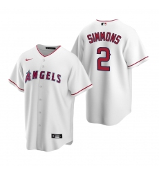 Men's Nike Los Angeles Angels #2 Andrelton Simmons White Home Stitched Baseball Jersey
