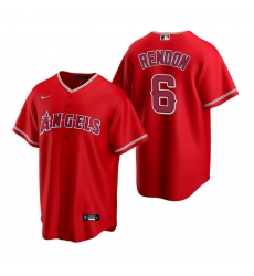 Men's Nike Los Angeles Angels #6 Anthony Rendon Red Alternate Stitched Baseball Jersey