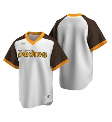 Men's Nike San Diego Padres Blank White Cooperstown Collection Home Stitched Baseball Jersey