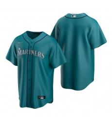 Men's Nike Seattle Mariners Blank Aqua Alternate Stitched Baseball Jersey
