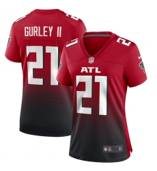 Women's Atlanta Falcons #21 Todd Gurley II Nike Red 2nd Alternate Game Jersey