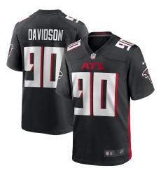 Men's Atlanta Falcons #90 Marlon Davidson Nike Black Player Game Jersey