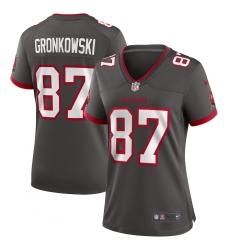 Women's Tampa Bay Buccaneers #87 Rob Gronkowski Nike Pewter Alternate Game Jersey