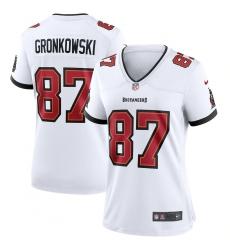 Women's Tampa Bay Buccaneers #87 Rob Gronkowski Nike White Game Jersey.webp