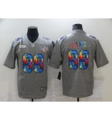 Men's Dallas Cowboys #88 CeeDee Lamb Gray Rainbow Version Nike Limited Jersey