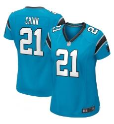 Women's Carolina Panthers #21 Jeremy Chinn Nike Blue Game Jersey