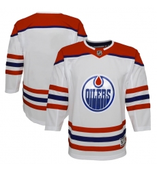 Youth Edmonton Oilers Blank White 2020-21 Special Edition Premier Jersey