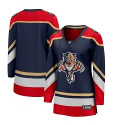 Women's Florida Panthers Fanatics Branded Blank Blue 2020-21 Special Edition Breakaway Jersey