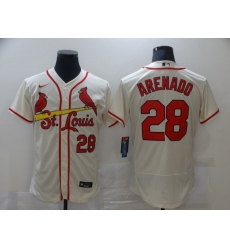Men's St. Louis Cardinals #28 Nolan Arenado Nike Cream Alternate Official Replica Jersey